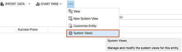 Open the system views to list all entities and system components.